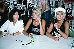 Bananarama - Sept 1986 Bananarama - Keren Woodward,<br /> Sara Dallin, Siobhan Fahey -In store appearance-  Sept 1986