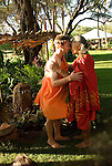 Hawaii: Molokai, people at protocol spiritual ceremonies at Kaupoa Beach..Photo himolo206-71962..Photo copyright Lee Foster, www.fostertravel.com, lee@fostertravel.com, 510-549-2202