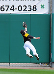2012 1A State Championship game in Peoria.  This Tuscola center fielder stretches out but is unable to haul in the deep line drive.