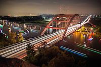 360 Bridge on Lake Austin, Texas (Pennybacker Bridge) Stock Photo Image Gallery