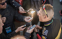 Another fine result, another 2nd place in the last 2 races; Philippe Gilbert (BEL/Quick Step floors) is in supergood shape for the Spring Classics and the press wants to hear all about it...<br /> <br /> 60th E3 Harelbeke (1.UWT)<br /> 1day race: Harelbeke &rsaquo; Harelbeke - BEL (206km)