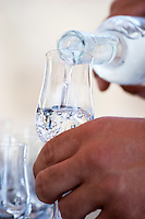 Glass of tsipouro. Tsantali Vineyards & Winery, Halkidiki, Macedonia, Greece.