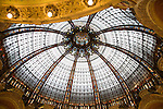 Dome in Lafayette Department Store, Paris, France