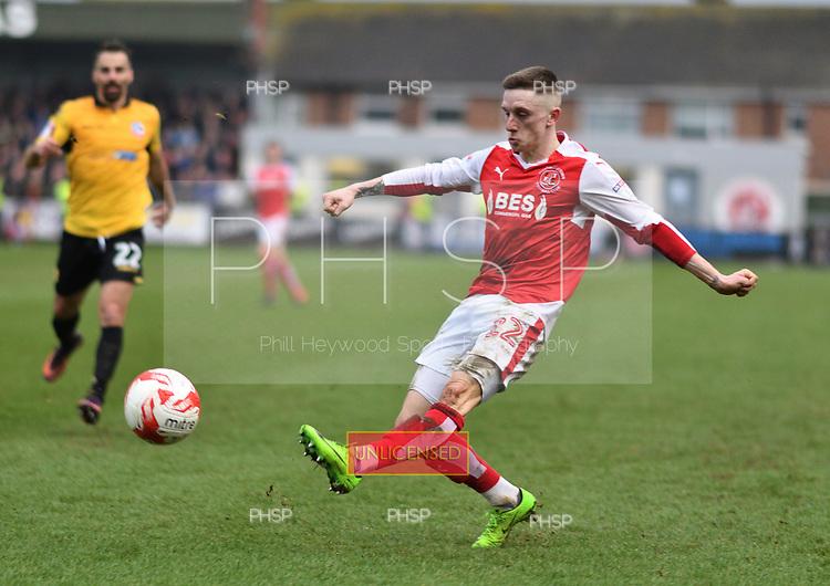 11/03/2017 Sky Bet League 1 Fleetwood Town v Bolton Wanderers<br /> <br /> Ashley Hunter crosses