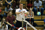 11 September 2015: Referee William Thornburgh. The Duke University Devils hosted the Stanford University Cardinal at Cameron Indoor Stadium in Durham, NC in a 2015 NCAA Division I Women's Volleyball contest. Stanford won the match 3-2 (17-25, 25-22, 17-25, 25-23, 10-15).