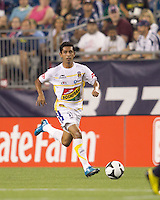 Monarcas Morelia forward Elias Hernandez (77) brings the ball forward. The New England Revolution defeated Monarcas Morelia in SuperLiga 2010 group stage match, 1-0, at Gillette Stadium on July 20, 2010.