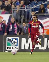 Real Salt Lake midfielder Javier Morales (11) at midfield. Real Salt Lake defeated the New England Revolution, 2-1, at Gillette Stadium on October 2, 2010.