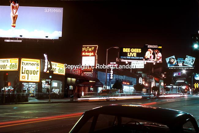 Sunset Blvd. billboards circa 1979