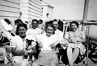 Tourists on the Belgian coast in 1938 (Belgium, 1938)