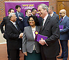 UKIP launch London Manifesto 2016 <br /> with Candidates for mayor and the London Assembly <br /> at the Emmanuel Centre, London, Great Britain <br /> 19th April 2016 <br /> <br /> Nigel Farage <br /> Leader of UKIP <br /> Rathy Alagaratnam<br /> candidate for Brent &amp; Harrow <br /> <br /> <br /> <br /> Photograph by Elliott Franks <br /> Image licensed to Elliott Franks Photography Services