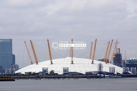 Canary Wharf, The Millennium Dome, River Thames, London