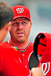 24 May 2009: Washington Nationals' first baseman Adam Dunn walks the dugout prior to a game against the Baltimore Orioles at Nationals Park in Washington, DC. Dunn hit two home runs, including a Grand Slam as the Nationals rallied to defeat the Orioles 8-5 and salvage one win of their interleague series. Mandatory Credit: Ed Wolfstein Photo