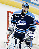 Ben Bishop (University of Maine - Des Peres, MO) - The Michigan State Spartans defeated the University of Maine Black Bears 4-2 in their 2007 Frozen Four semi-final on Thursday, April 5, 2007, at the Scottrade Center in St. Louis, Missouri.