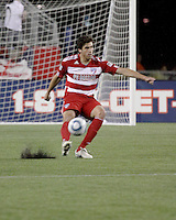 FC Dallas forward Jason Yeisley (31) passes the ball.  The New England Revolution drew FC Dallas 1-1, at Gillette Stadium on May 1, 2010