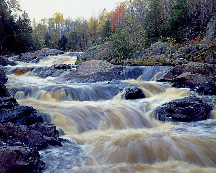 Red Granite Falls, Copper Falls State Park, Wisconsin, September, 1986
