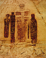 The Holy Ghost and court   The Great Gallery, Canyonlands National Park, Utah Ancient Barrier Canyon style pictographs