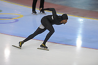 SCHAATSEN: SALT LAKE CITY: Utah Olympic Oval, 14-11-2013, Essent ISU World Cup, training, Shani Davis (USA), ©foto Martin de Jong