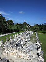 Hall of the King, Mayapan, old Maya capital, c. 1250, destroyed during civil war, 1441, Yucatan, Mexico. Picture by Manuel Cohen