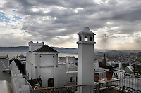 Skyline, Tangier, Morocco pictured on December 18, 2009. Beneath a wintry sky Tangier lives up to its other name, the 'White City'. Gateway to North Africa, a port on the Straits of Gibraltar where the Meditaerranean meets the Atlantic, Tangier is an ancient city where many cultures, Phoenicians, Berbers, Portuguese and Spaniards have all left their mark. With its medina, palace and position overlooking two seas the city is now being developed as a tourist attraction and modern port. Picture by Manuel Cohen