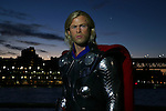 Madam Tussauds Chris Hemsworth wax figure  of Marvel super hero character the demi god Thor in Sydney. Sydney, Australia. Tuesday, 31st March 2015 (Photo: Steve Christo)