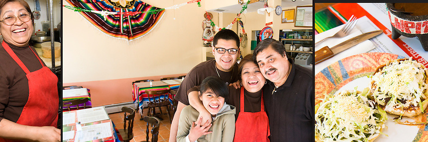 Family owned and operated Taqueria Lupita Authentic Mexican Cuisine in Central Falls, RI. The couple grew up in the same Mexican town, though didn't meet until both had moved to New York City.