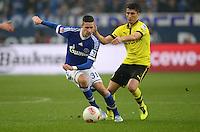 FUSSBALL   1. BUNDESLIGA   SAISON 2012/2013    25. SPIELTAG FC Schalke 04 - Borussia Dortmund                         09.03.2013 Julian Draxler (li, FC Schalke 04) gegen Nuri Sahin (re, Borussia Dortmund)