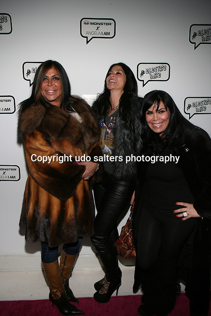 VH-1 Mob Wives' Big Ang, Alicia DiMichele Garofalo and Renee Graziano Attend Angela Simmons I Am Presentation Powered Monster at 404 During Mercedes-Benz Fashion Week Fall 2014 NY