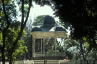 Ornate bandstand in the Zocalo in the city of Oaxaca, Mexico