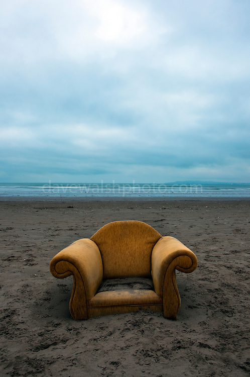Armchair washed up on Dollymount Strand, Bull Island, Dublin.<br /> <br /> <br /> Limited edition C-Type Prints available - contact me for more details.