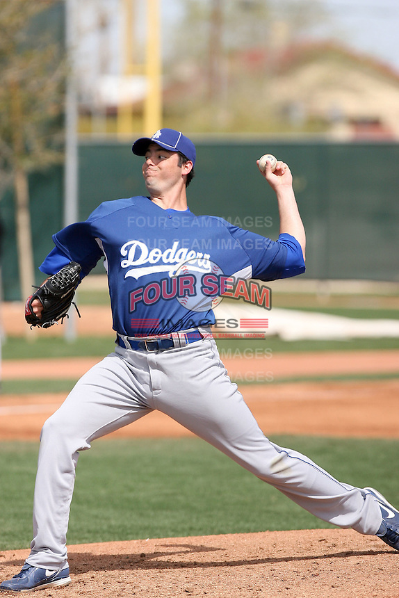 James Adkins, Los Angeles Dodgers minor league spring training..Photo by:  Bill Mitchell/Four Seam Images.