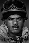 Pvt. Sa'aba Abed Mutir, 26, Nasiriyah, Laborer, 4th Co., 2nd Battalion, 7th Division of the Iraqi Army in Haditha, Iraq on Sun. Nov. 27, 2005.