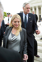Attorneys General Pam Bondi (Republican of Florida), left, and Luther Strange (Republican of Alabama), right, depart the United States Supreme Court Building in Washington, D.C. following the third and final day of oral arguments concerning the constitutionality of the Patient Protection and Affordable Care Act on Wednesday, March 28, 2012.  .Credit: Ron Sachs / CNP /MediaPunch