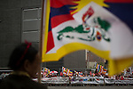 Protest by Buddhist community against Dalai Lama in New York