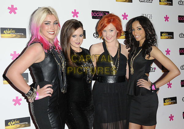 Guests .attended Social TV Awards 2013, BAFTA Headquarters, Piccadilly, London, England..March 27th, 2013.half length black dress girlband leather necklace gold dyed pink hair hands on hips.CAP/CAN.©Can Nguyen/Capital Pictures.