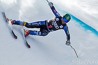 U.S. Ski Team Athlete Travis Ganong in the second training run of the Birds of Prey Downhill Alpine ski race at The Beaver Creek Resort in Avon, CO on Nov. 28, 2012.