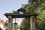 Chile Wine Country: Gate at Concha y Toro Winery, Vina Concha y Toro, near Santiago..Photo #: ch446-32882. .Photo copyright Lee Foster, 510-549-2202, www.fostertravel.com, lee@fostertravel.com.