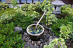 Photo shows a well in the courtyard at the Saitama Omiya Bonsai Museum of Art in Saitama, Japan on 15 Aug. 2011..Photographer: Robert Gilhooly