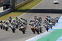 May 2, 2010 - Jerez, Spain  -  The Moto 2 riders start from the grid during Spanish Grand Prix on May 2, 2010 in Jerez de la Frontera, Spain. (Photo Andrew Northcott/Nippon News).
