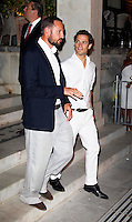 Crown Prince Haakon of Norway, and Prince Carl Phillip of Sweden attend a Cocktail Party at The Poseidonion Hotel, in Spetses, Greece, on the eve of the Wedding of Prince Nikolaos of Greece to Tatiana Blatnik.