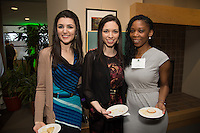 Stell D. Patadji, from right, Nalara Barbosa. Class of 2013 dinner.