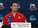 15 December 2007: Ohio State's Eric Edwards. The Ohio State Buckeyes held a press conference at SAS Stadium in Cary, North Carolina one day before playing in the NCAA Division I Mens College Cup championship game.