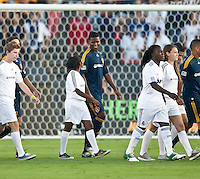 Edson buddle during the pregame of the friendly game between LA Galaxy and Real Madrid at the Rose Bowl in Pasadena, CA, on August 7, 2010. LA Galaxy 2, Real Madrid 3.