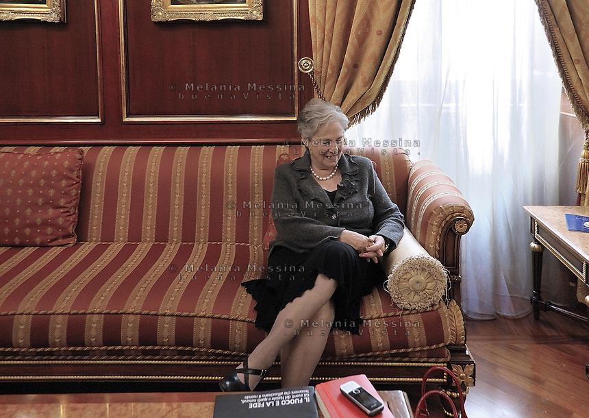 Palermo, Rita Borsellino, sister of the antimafia judge Paolo Borsellino killed by mafia, now she is the actual official centre left candidate for mayor for Palermo..Palermo, Rita Borsellino, attualmente candidata a sindaco di Palermo sostenuta dal PD e dal SEL.