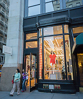 An American Apparel store in New York on Tuesday, August 4, 2015.  (© Richard B. Levine)
