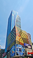 New York, New York City, Times Square, Westin Hotel, designed by Arquitectonica, 42st and 8th Ave, Midtown