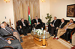 Deposed Palestinian Prime Minister Ismail Haniyeh received a delegation from the Islamic Jihad  movement in his office in Gaza City.