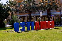 Lido di Ostia, Roma<br /> Piazza Anco Marzio.<br /> Lido di Ostia, Rome<br /> Piazza Anco Marzio