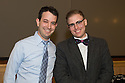 Student Clinician Ceremony. Adam Ackerman, class of 2014, left, Steve Runyan, M.D.