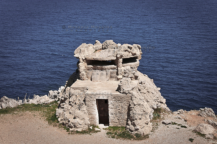 Natural reserve of Capo Gallo: second world war bunker.<br />