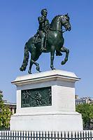 Statue of Henri IV on the Pont Neuf, Paris, France